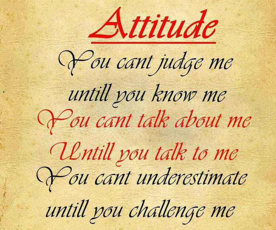 Quotes On Attitude Girl: Attitude Quotes About My Self. QuotesGram
