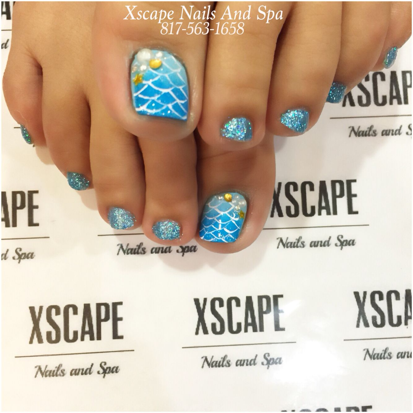 Mermaid nail designs | Beauty. | Pinterest | Manicuras, Cumpleaños y ...