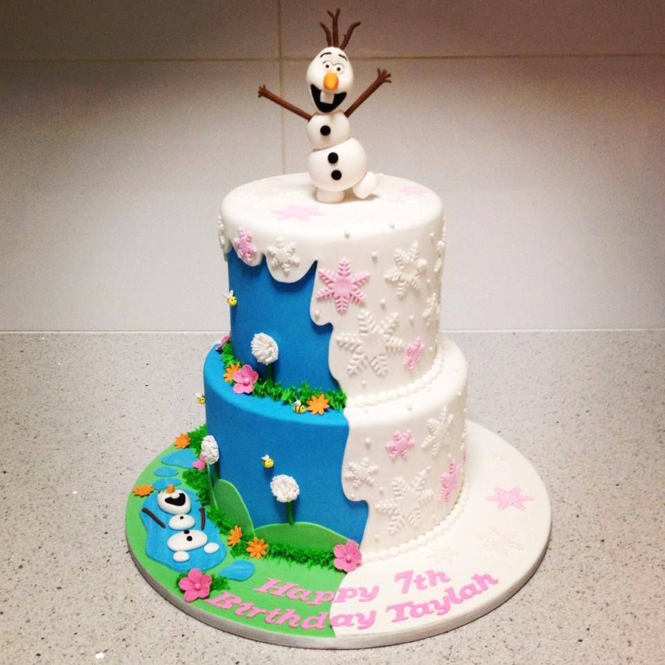 Frozen Cake Olaf In The Summer And Olaf In The Winter Frozen