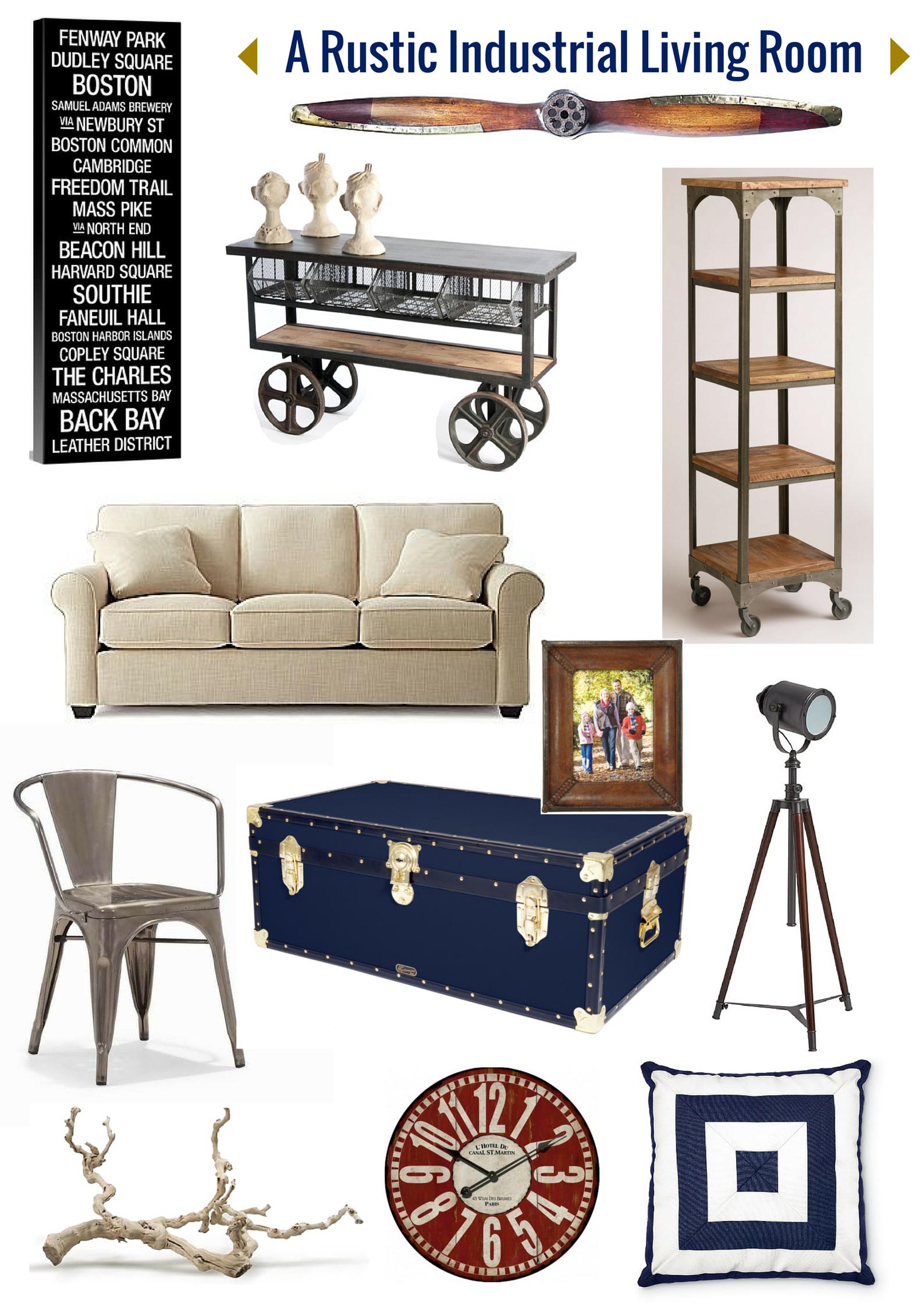 An Industrial Rustic Living Room | Industrial living rooms ...