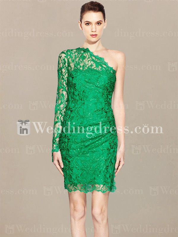 Lace Prom Dress, Short Prom Dress PR072