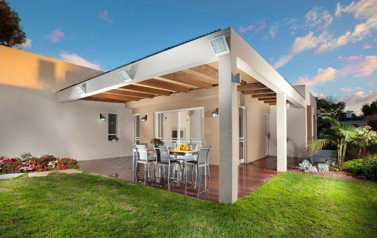 Terrasse couverte - 30 idées sur l\'auvent en bois et la ...