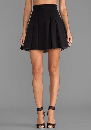 7e8f8562f11 T BY ALEXANDER WANG Jersey Bonded Neoprene Box Pleat Skirt