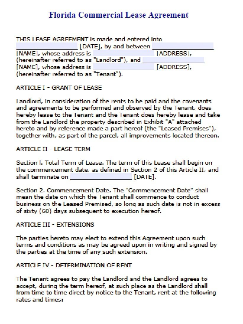 Florida Commercial Real Estate Contract (With images