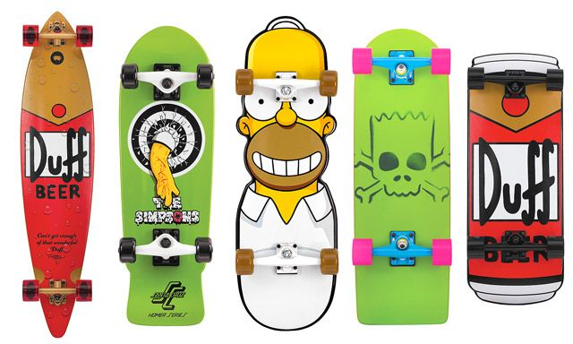 Simpsons Decks By Santa Cruz Design You Trust Social Inspirations Skateboard Skateboard Decks Cool Skateboards