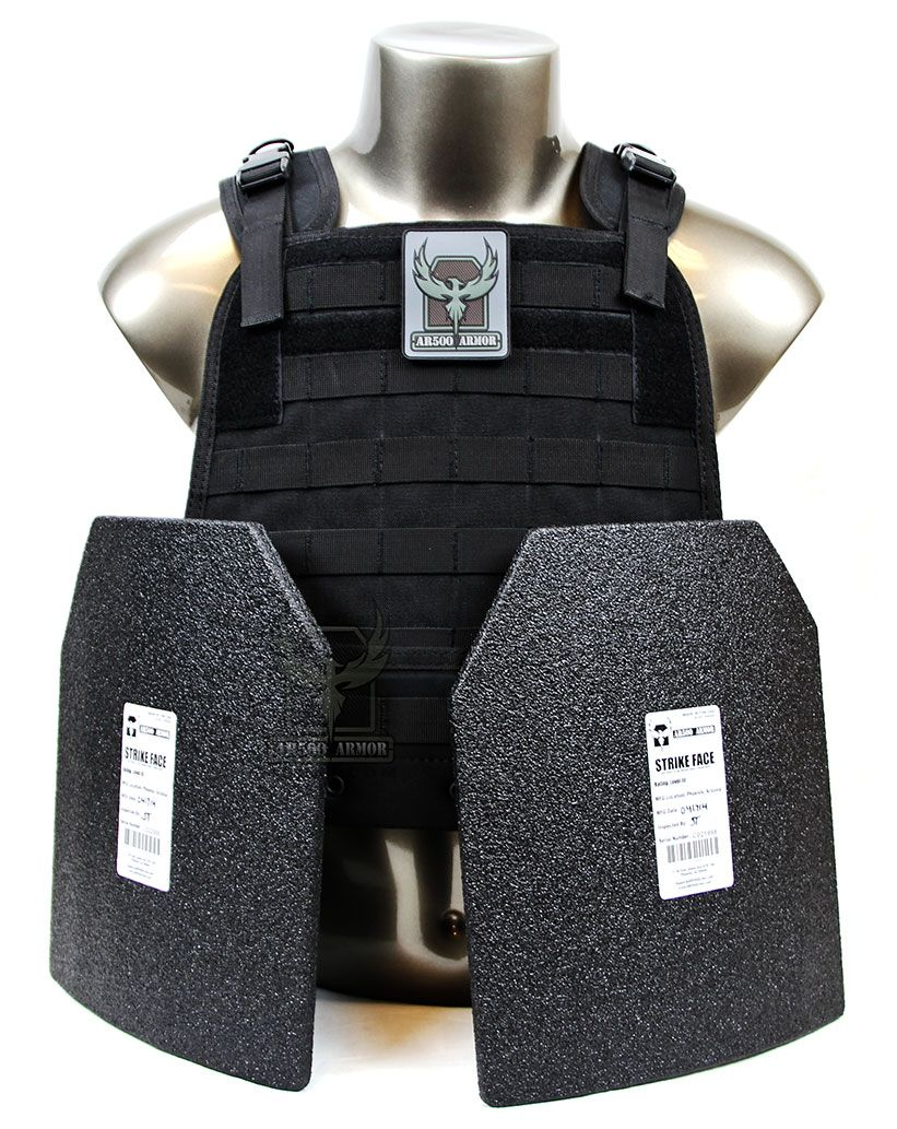 AR500 Armor® Urban Go Plate Carrier Package -BK with curved plates