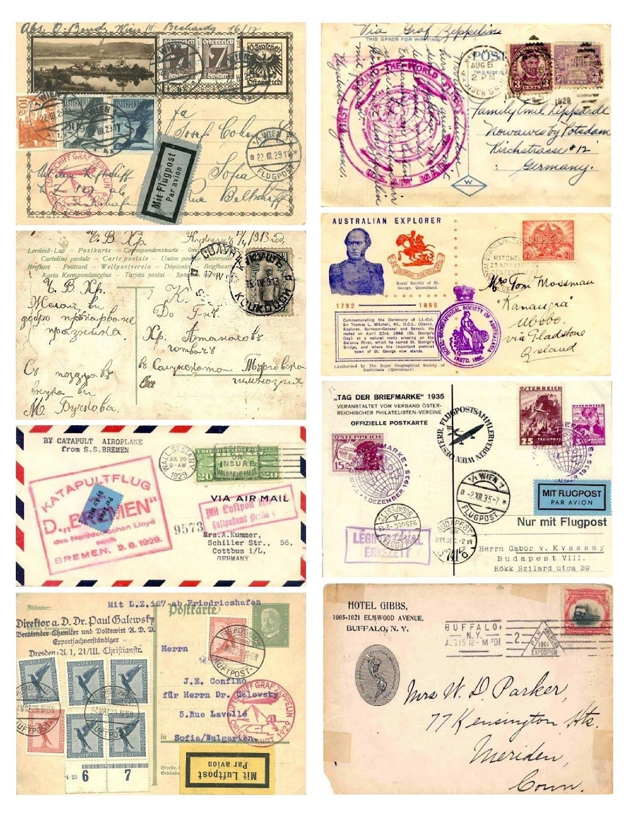 Free Vintage Digital Stamps Free Vintage Images Postal Collage Free Vintage Printables Vintage Postcards Digital Stamps