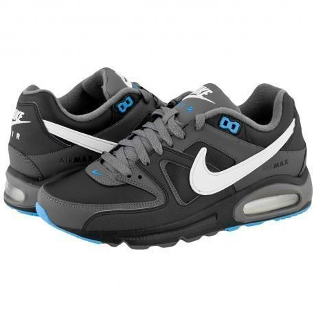 wholesale dealer 905e2 fc8c3 Nike Air Max Command Leather Sneakers Black White Dark Grey Anthracite