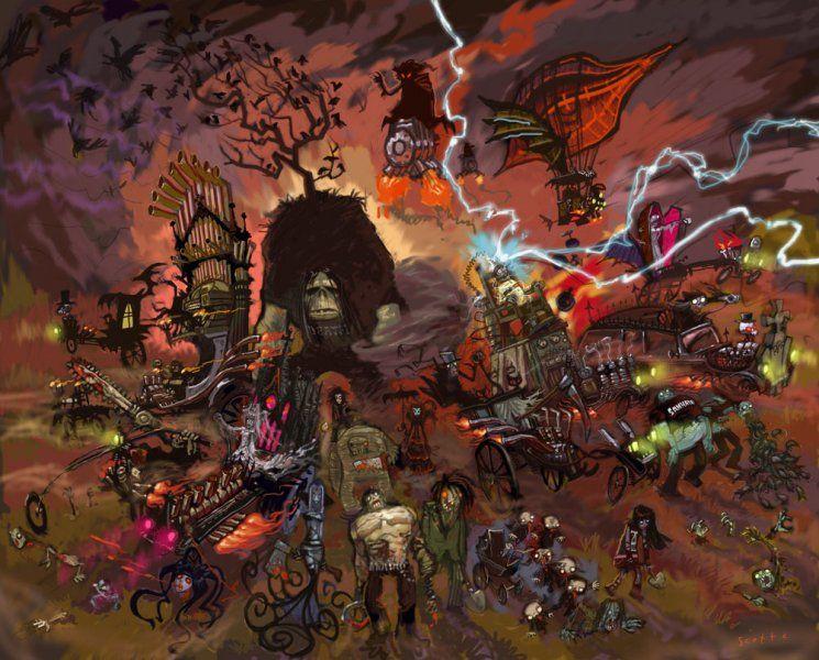 Brutal Legend Drowning Doom Concept Art