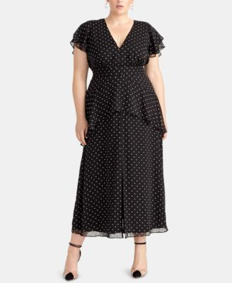 Trendy Plus Size Val Maxi Dress | macys.com | Mother of the Bride ...