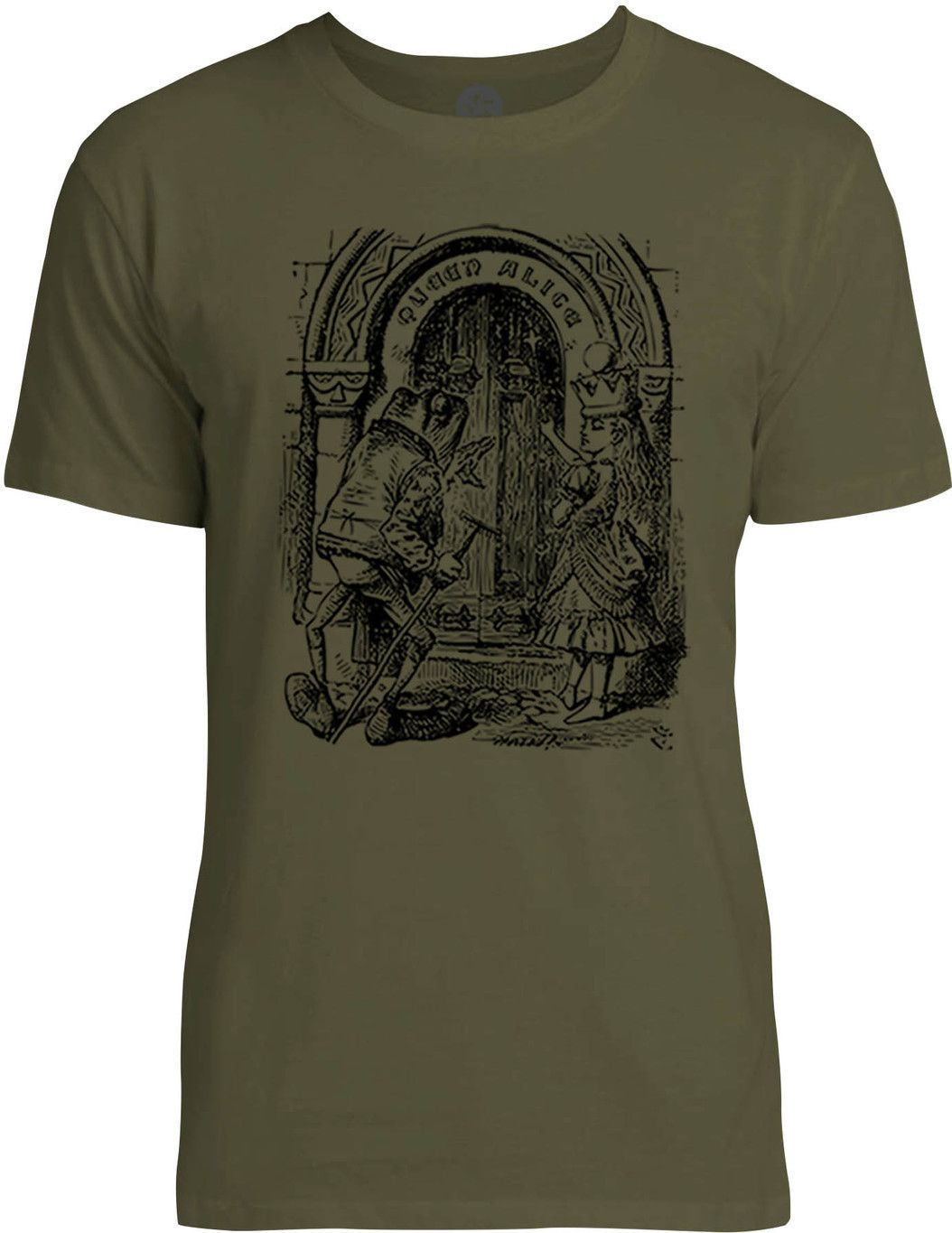 Through the Looking Glass - Queen Alice (Black) Mens Fine Jersey T-Shirt