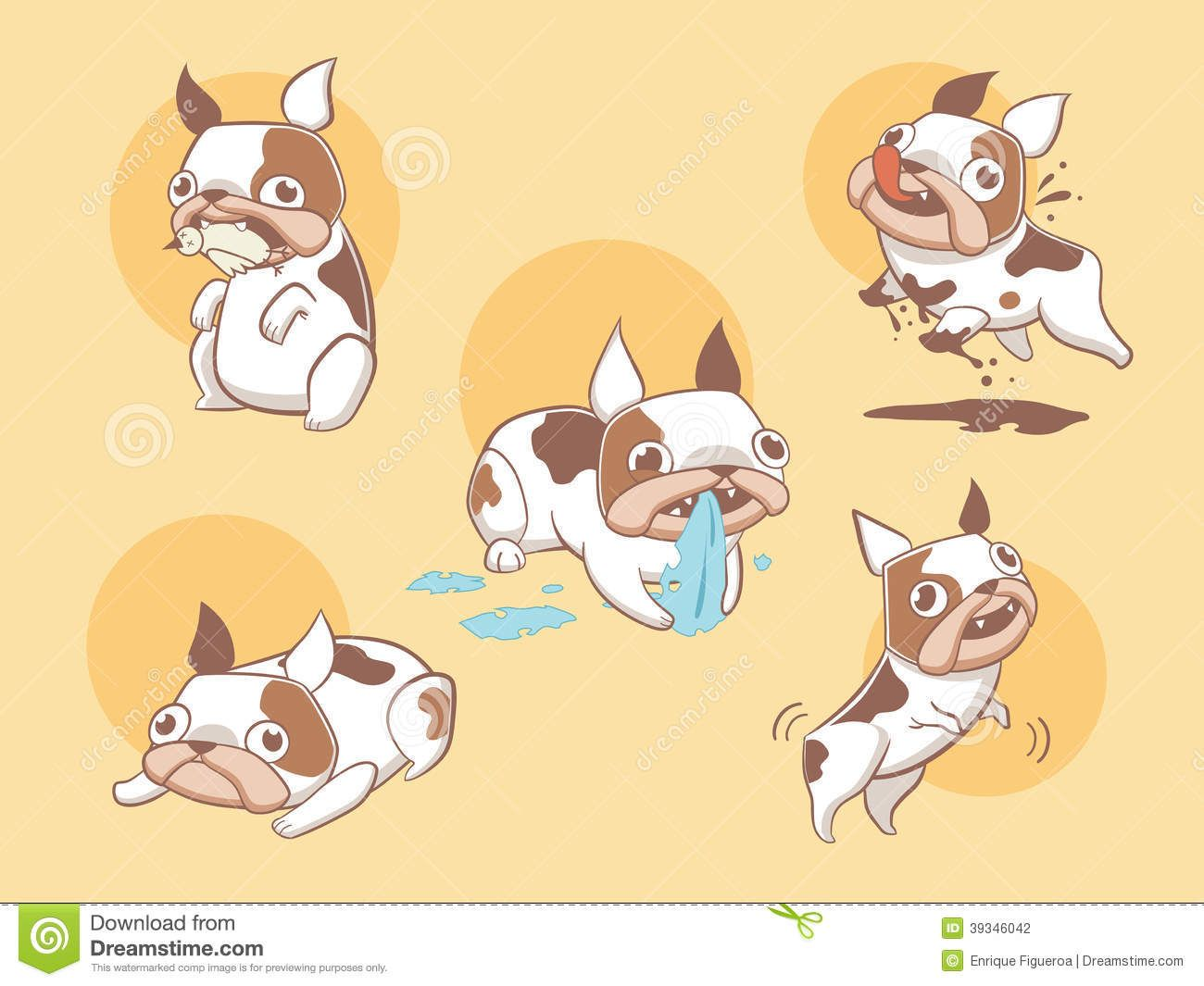 cute bulldog cartoon - Buscar con Google