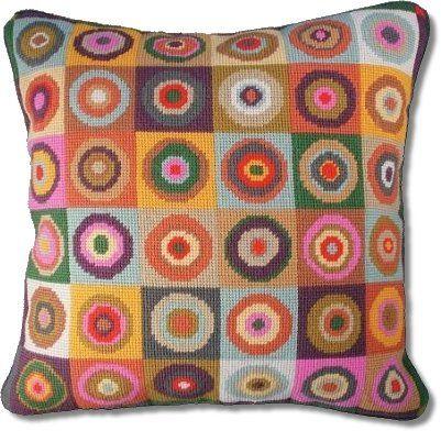 Jolly Red Magic Circles Tapestry Kit #magiccircle