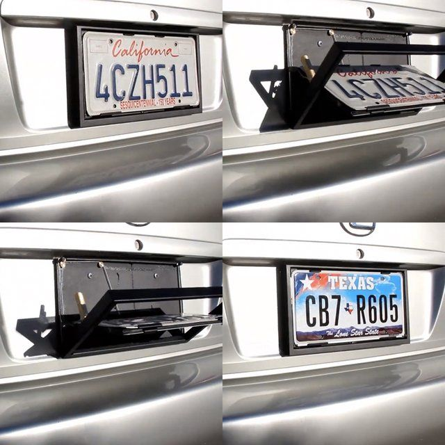 License Plate Flipper 007 Style License Plate Car Gadgets Spy Gadgets