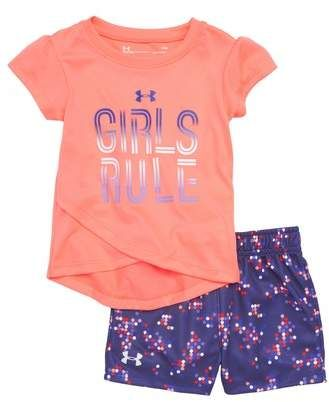 24f3269bbf Under Armour Girls Rule Tee & Shorts Set | Little girl clothes ...