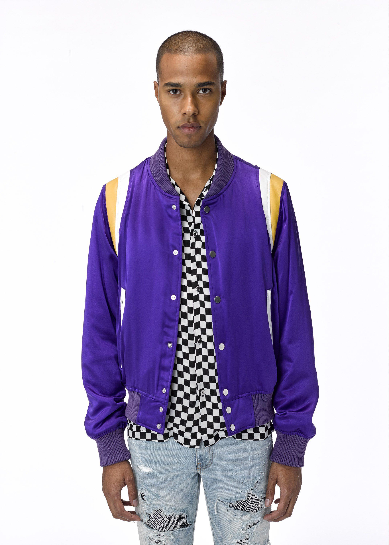 Varsity Baseball Loose Jacket Purple Amiri Jackets Baseball Jacket Varsity [ 3000 x 2143 Pixel ]