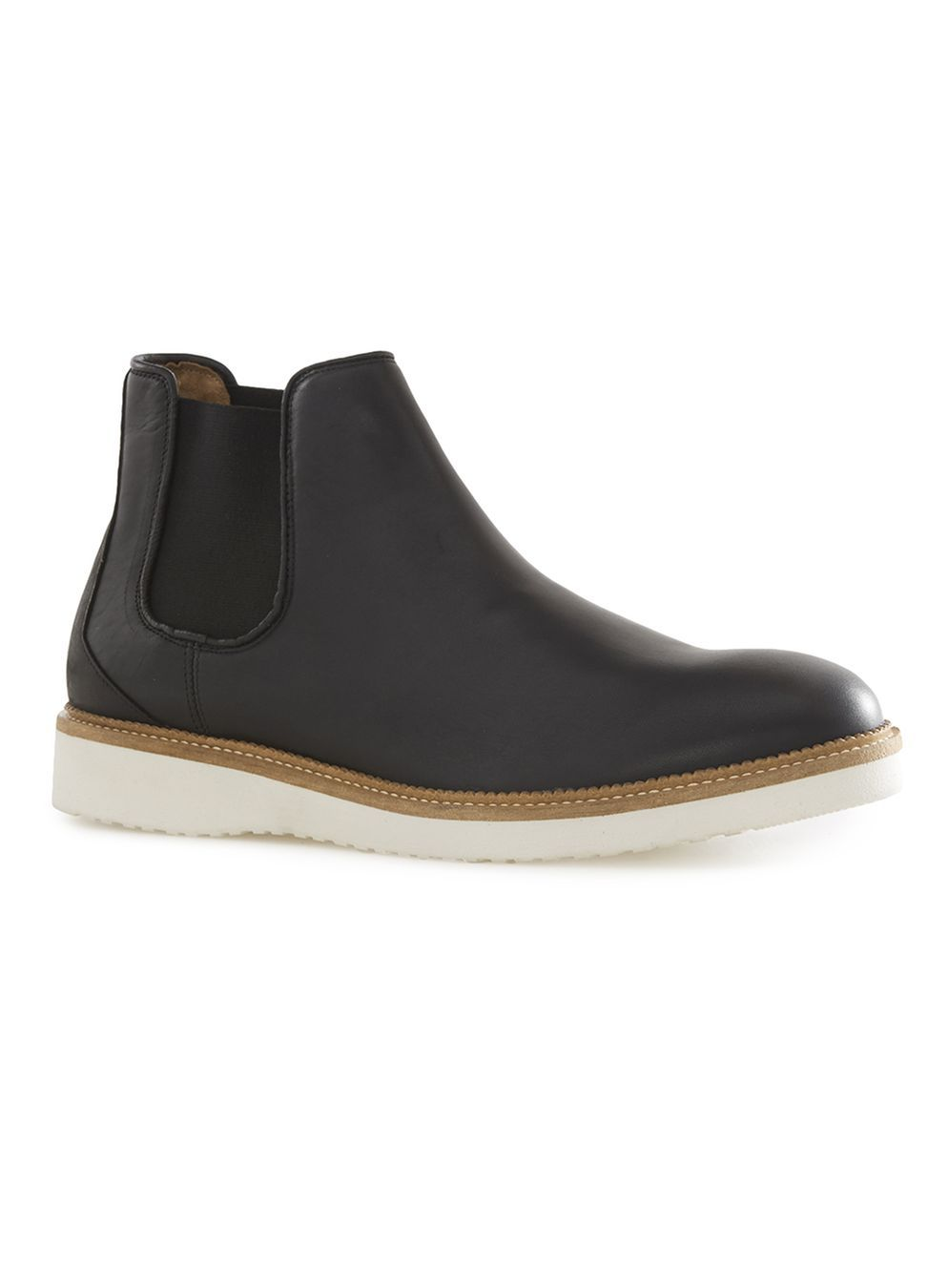 3b75eb8fcc62f1 SELECTED HOMME S Rud Black Leather Chelsea Boots - Boots - Shoes ...