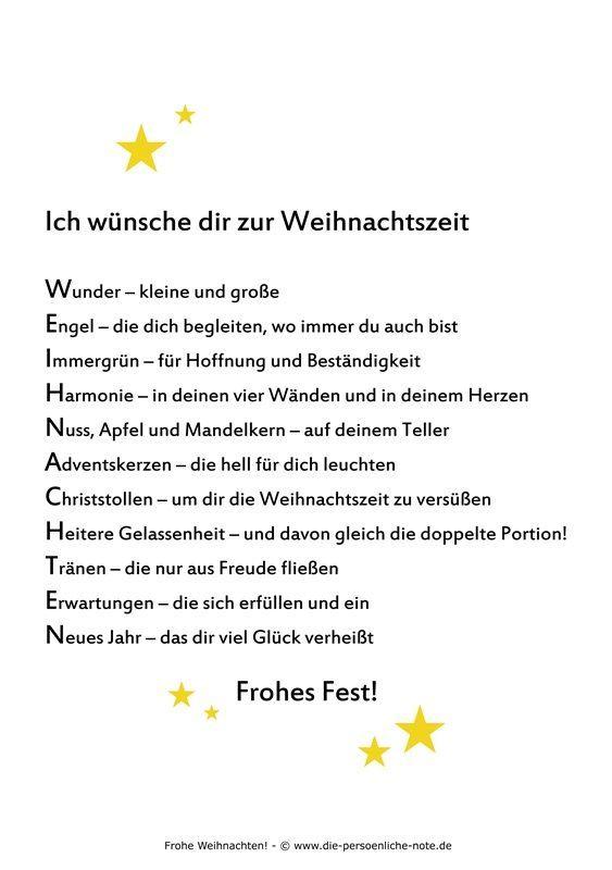 Adventskalender 2014 24 Kleine Wortgeschenke 24 Dezember Gedicht Weihnachten Weihnachtswunsche Weihnachtsspruche