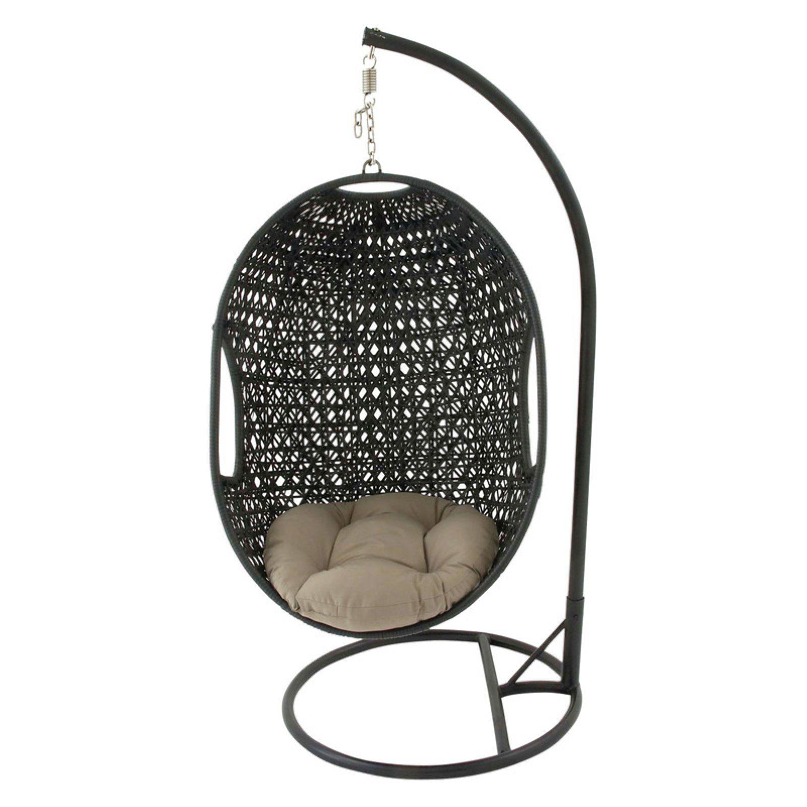Outdoor DecMode Rattan Hanging Chair Hammock with Metal
