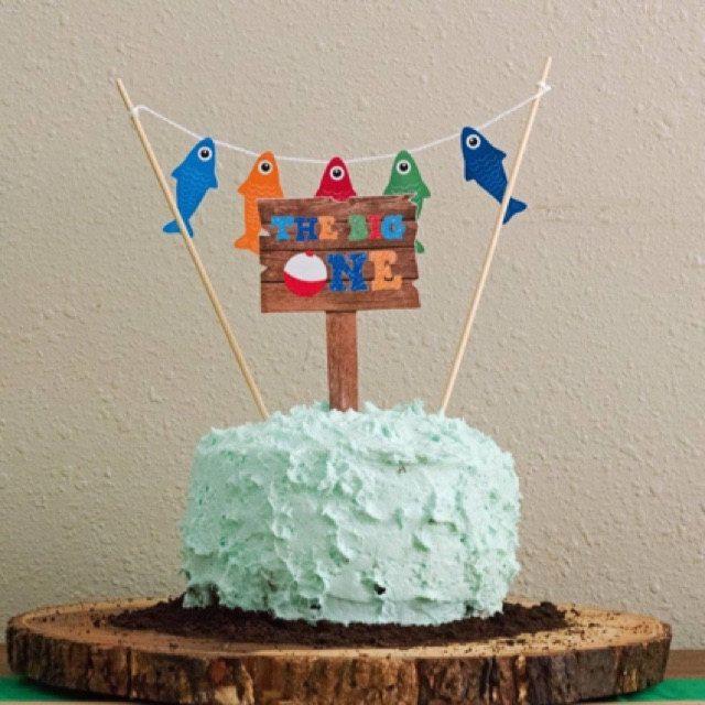 Gone Fishing Cake Topper Fishing Birthday Cake Fishing Smash