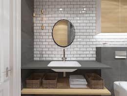 Salle de bain de style de style Industriel par Kameleon - Kreatywne Studio Projektowania Wnętrz