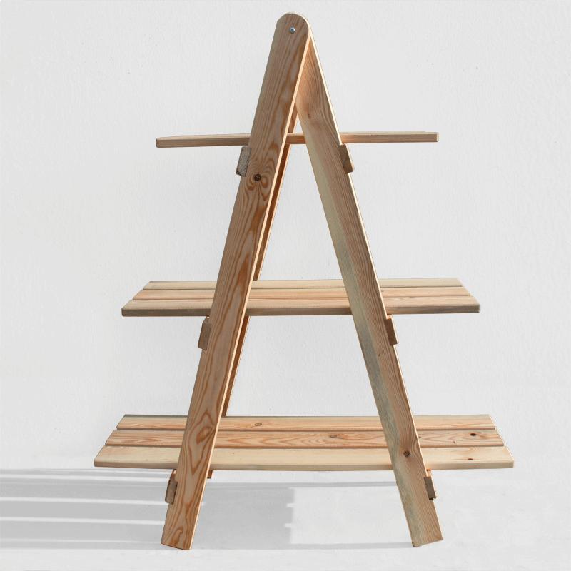 Cajonera kit escalera decorativa de madera de pino b ltico for Escalera madera portatil
