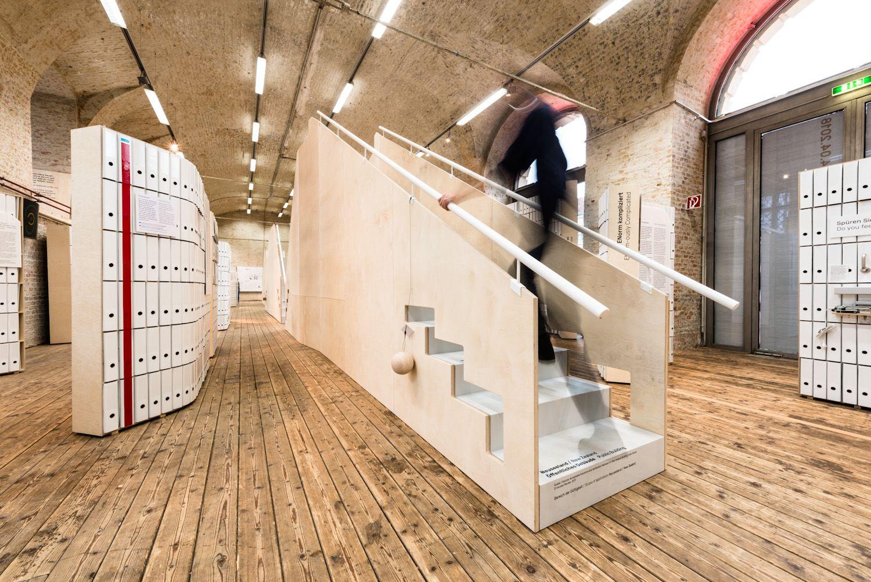 Exhibition Design: Architekturzentrum Wien   #exhibitiondesign #design #museum #exhibition #auststellungsgestaltung #museumdesign #stairs #graphicdesign #wood
