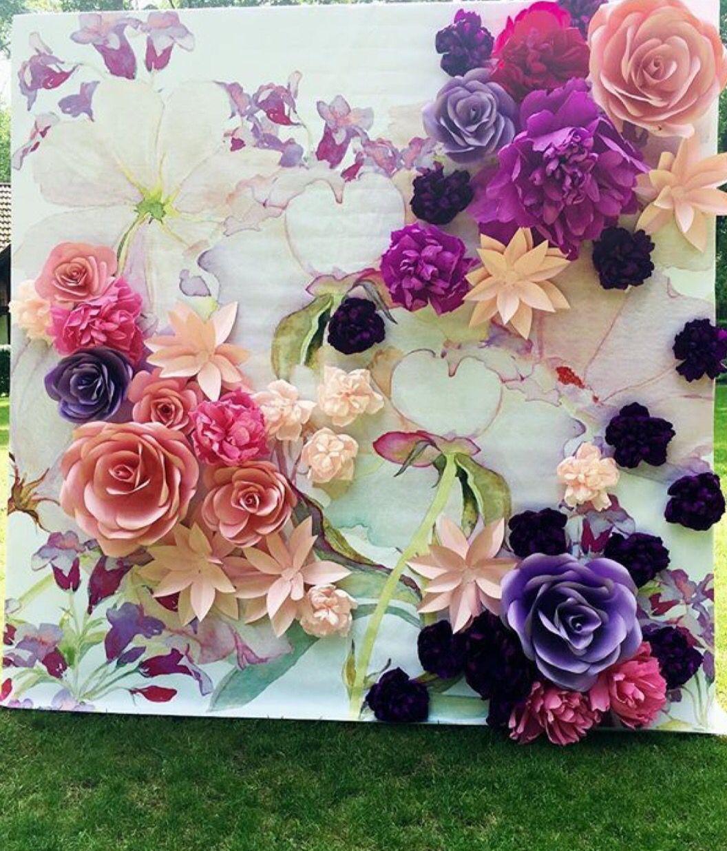 Inspiration paper flower backdrop paper flowers paper