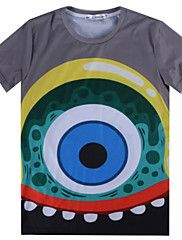 Street boy Men's Casual 3D Printing Short Sleeve T-Shirts