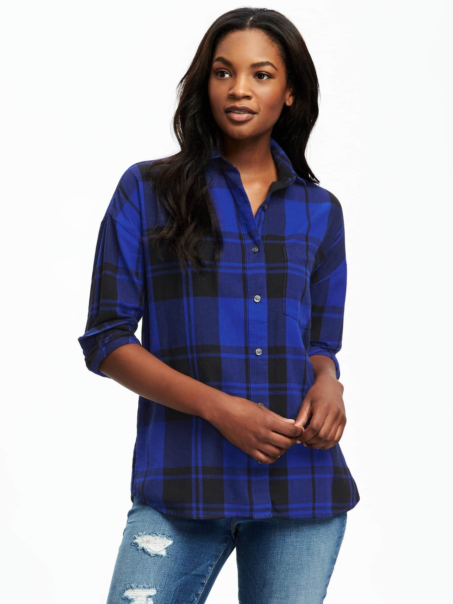 Size L - blue and black plaid   Christmas Gift Ideas 2016 ...