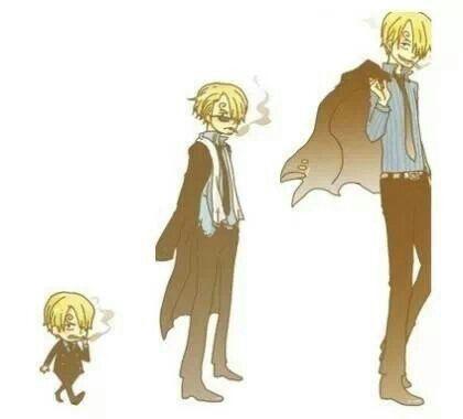 Aww that little sanji is sooo cute♥