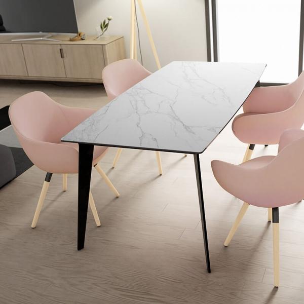 Table De Salle A Manger Plateau En Ceramique Infinity Table Salle A Manger Salle A Manger Table Ronde Table En Ceramique