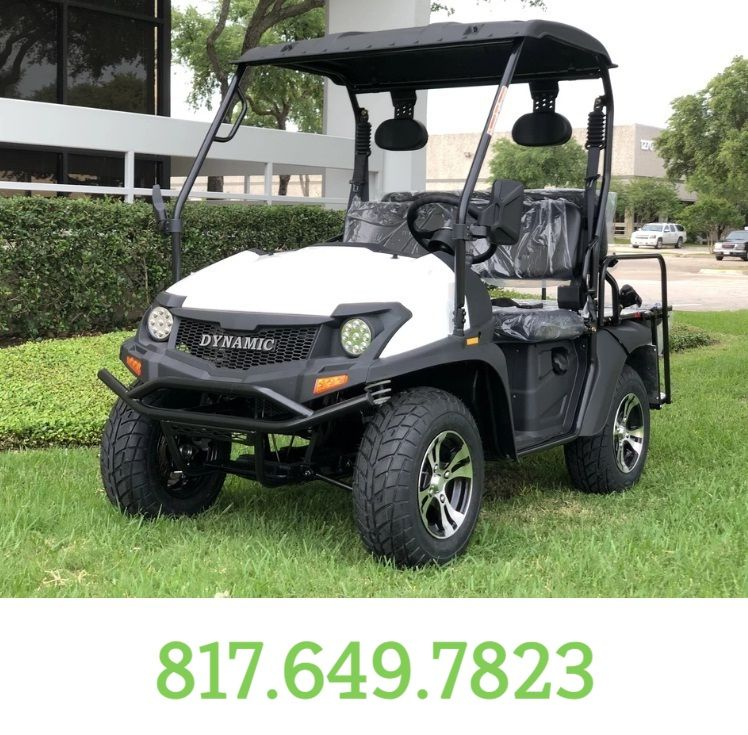 WHITE Fully Loaded Cazador OUTFITTER 200 Golf Cart 4