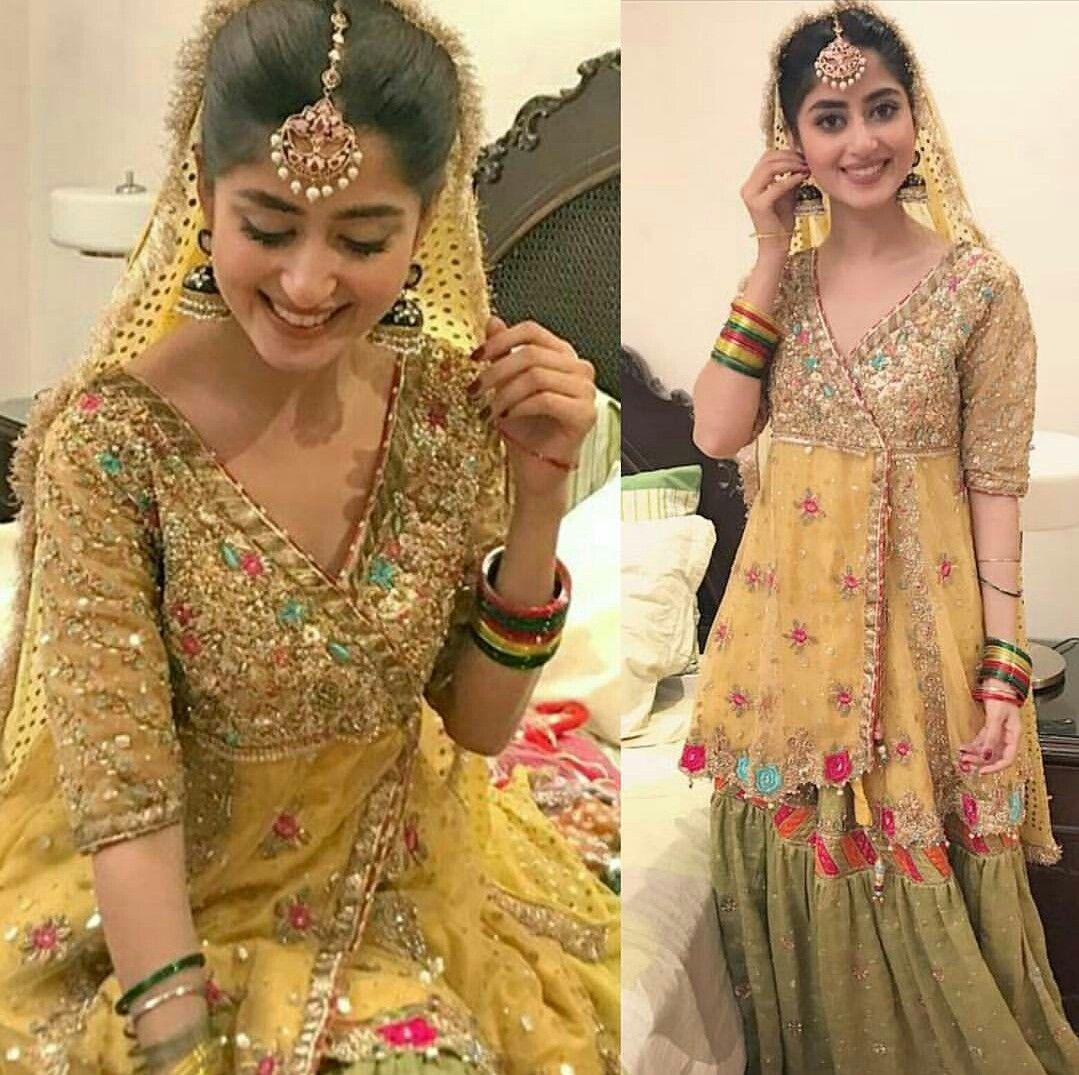 That Smile Sajal Ali on sets of her Drama Serial