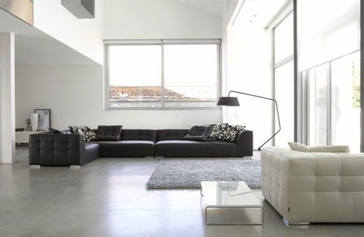 Black and white living room For the Home Pinterest Minimalismo
