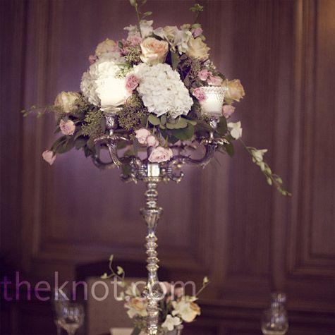 Hydrangea Candelabra Centerpieces Flowers Pinterest – Wedding Chandelier Centerpieces