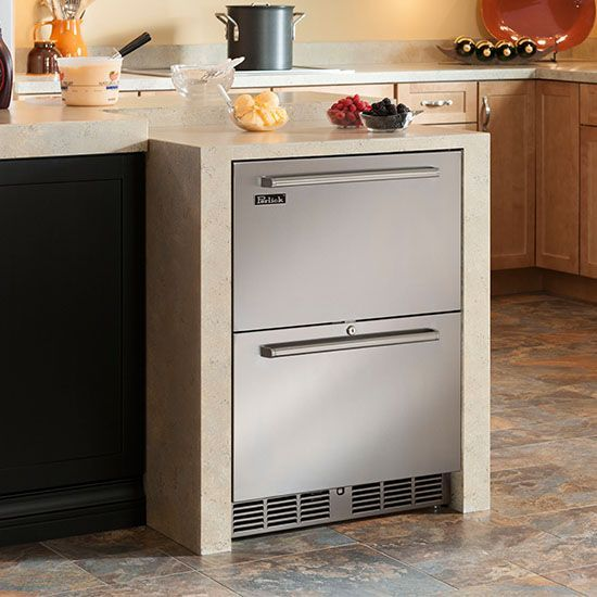Under Counter Freezer Drawers Closed 24 Signature Series Dual Zone Refrigerator Freezer Drawers Perlick Corporation Kitchen Plans Modern Kitchen Kitchen