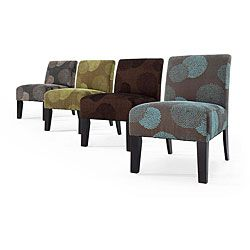 Available in four vibrant colors, this chair is made with a hardwood frame and upholstery-grade fabrics. With a sunflower design, this chair will highlight any area with its tufted back and stylishly curved legs.