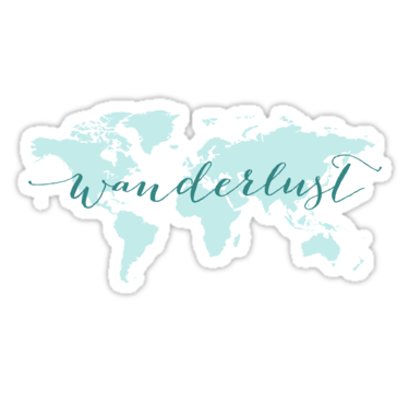 Wanderlust strong desire to travel text design word art with teal wanderlust strong desire to travel text design word art with teal world map gumiabroncs Choice Image