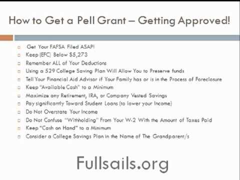 How To Get Approved For The Pell Grant Pell Grant Federal Student Loans How To Get