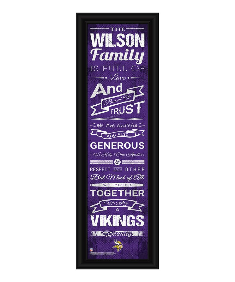 Look at this Minnesota Vikings Framed Personalized Print on #zulily today!