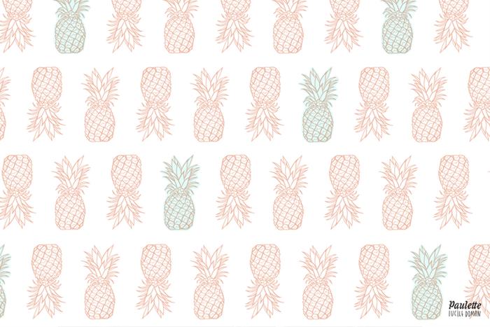 Les fonds d cran de paulette for Fond ecran ananas