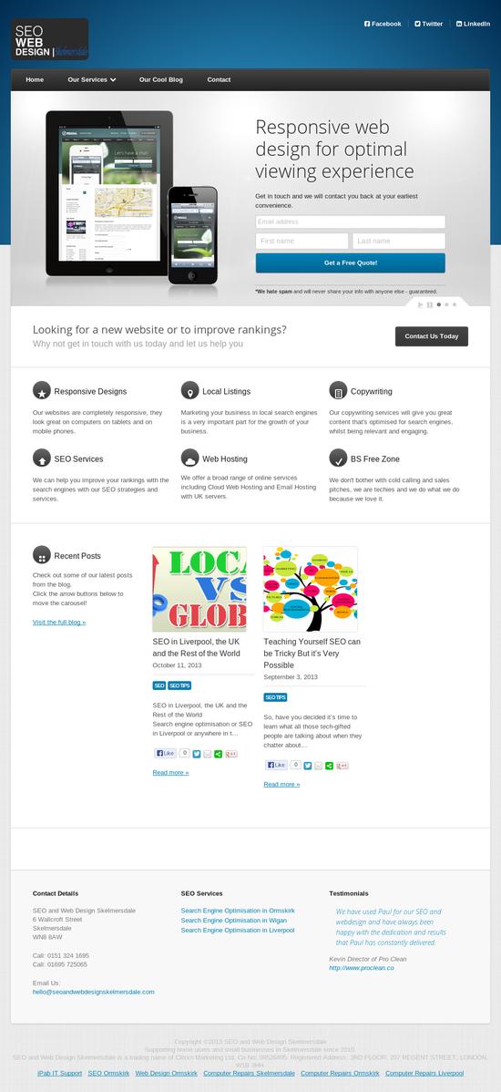 Seo Web Design Skelmersdale Web Design Responsive Design Website Design
