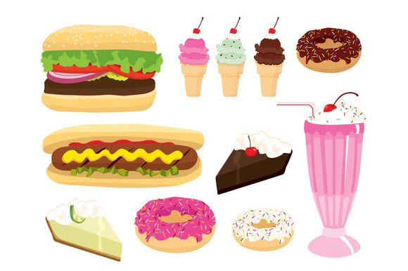 Check out Classic American Diner Food by Vector Love on