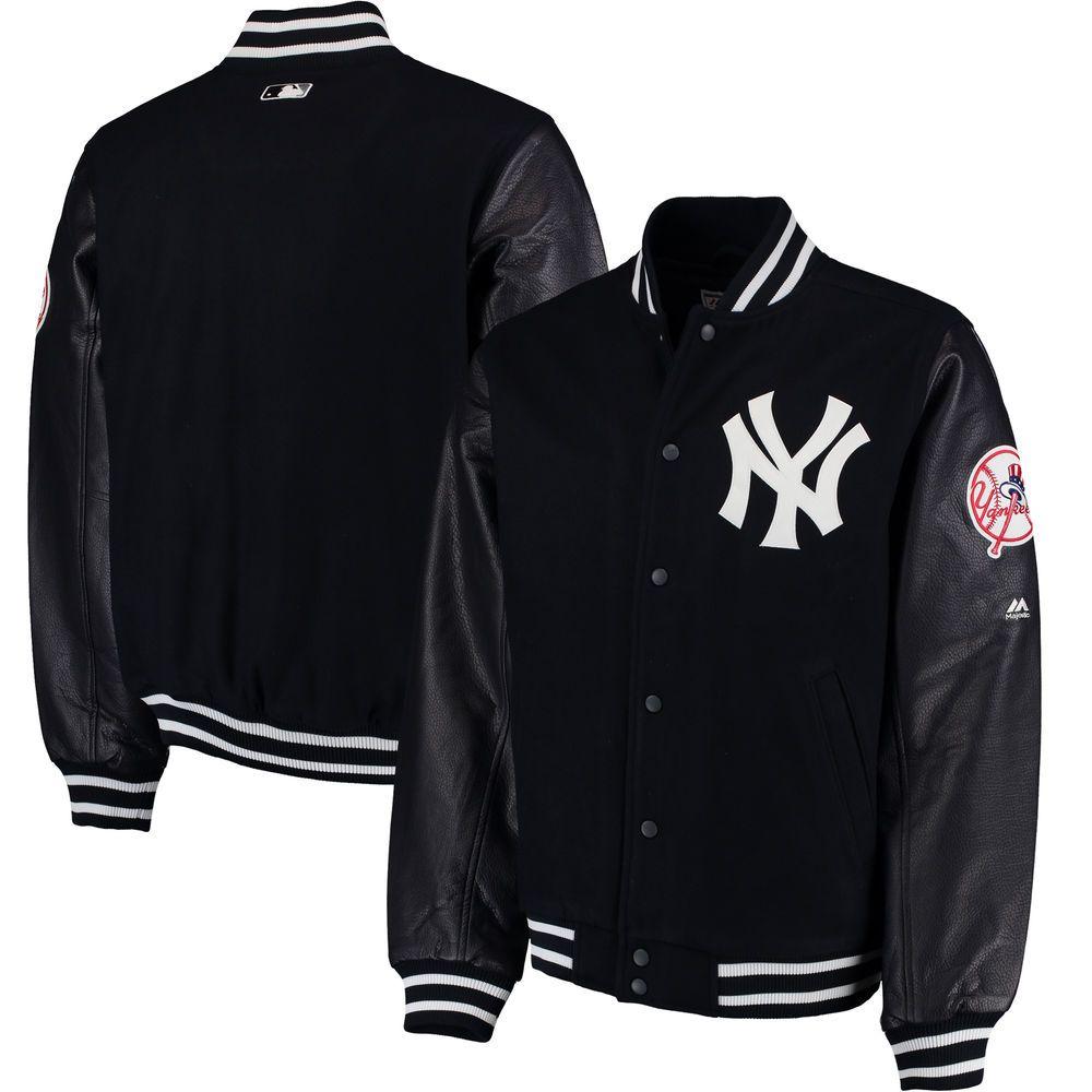 2e692075e45 Men s New York Yankees Majestic Navy On-Field Varsity Jacket in 2019 ...