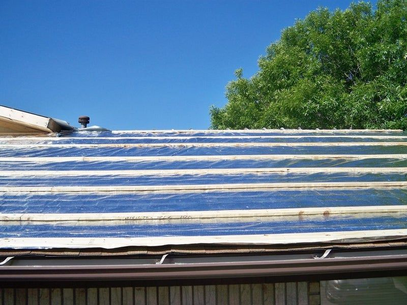 Reroofing With Corrugated Metal And Radiant Barrier Over Asphalt Shingles In 3 Steps In 2020 Reroofing Corrugated Roofing Asphalt Roof Shingles