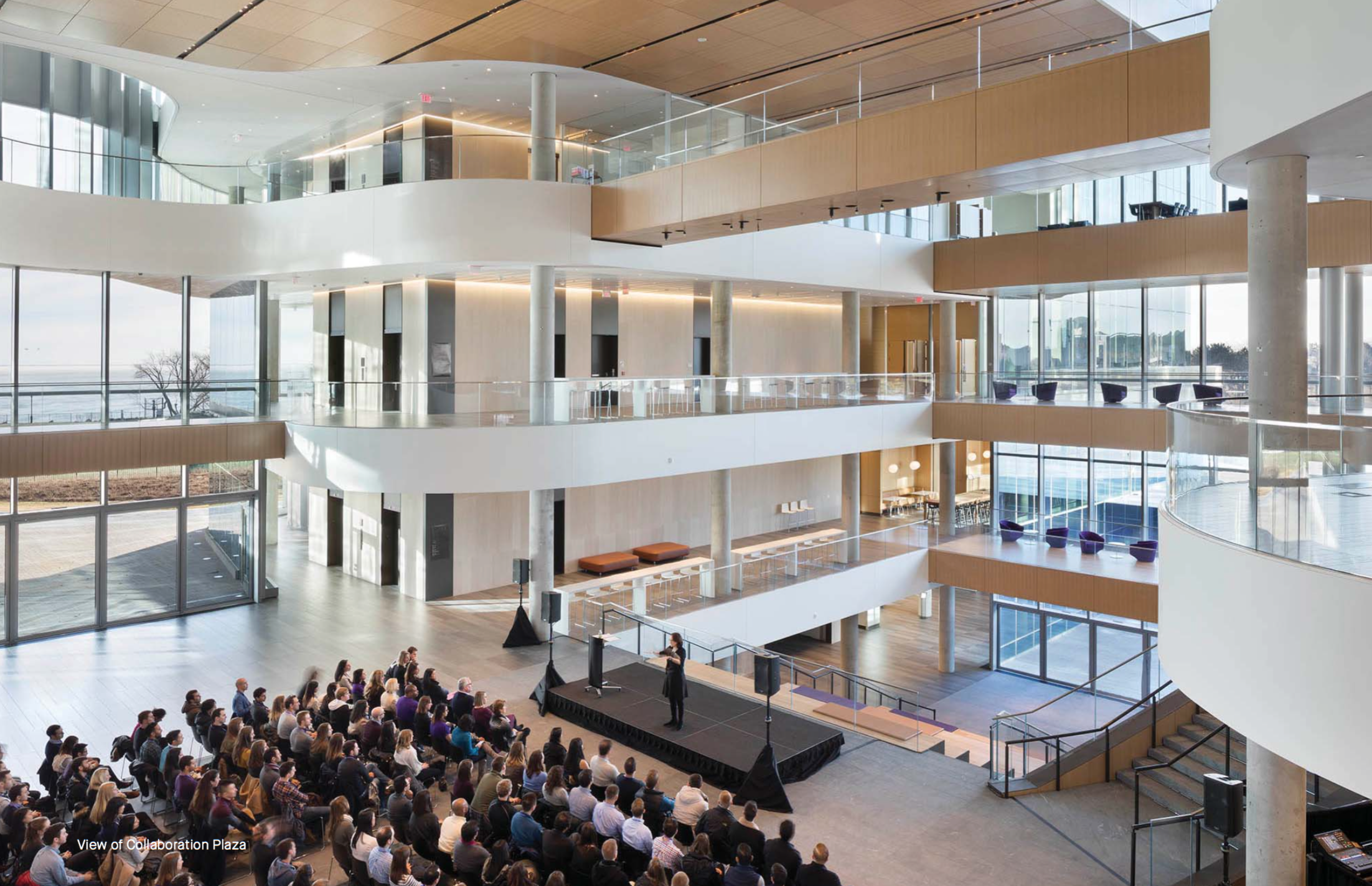 Northwestern opens new kellogg global hub at its evanston campus curbed chicagoclockmenumore arrow