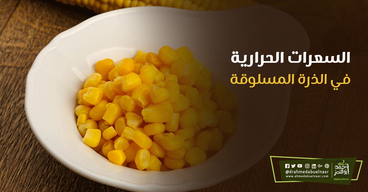 السعرات الحرارية في الذرة المسلوقة Food Vegetables Corn