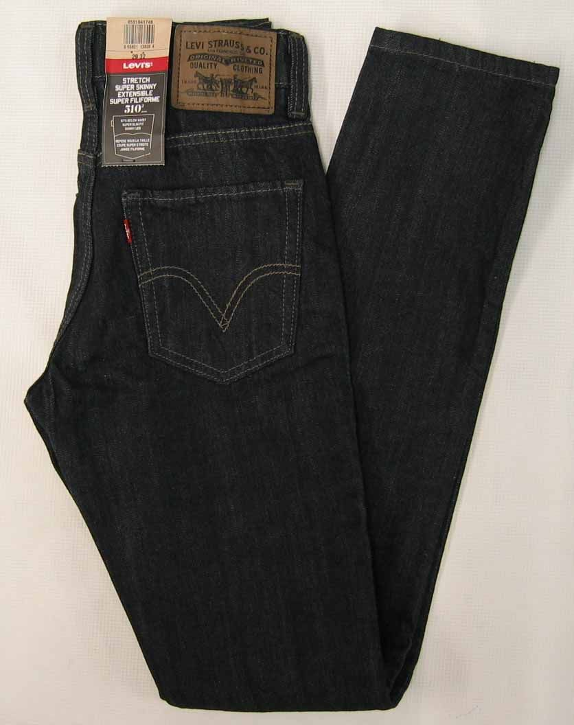 Levi's 510 skinny fit blue cotton jeans