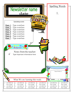 3 6 Free Resources Classroom Newsletter Templates Thanksgiving Template